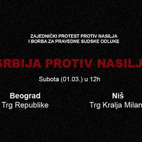 SRBIJA PROTIV NASILJA! 01.03. u 12h